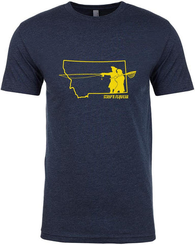 Go West Montana T shirt Fly Fishing T shirt - Stripn Flywear