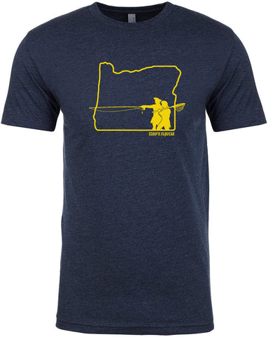 Go West Oregon T shirt Fly Fishing T shirt - Stripn Flywear
