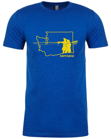 Go West Washington T shirt Fly Fishing T shirt - Stripn Flywear
