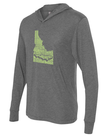 Idaho Topo Trout Lightweight Hoody Lightweight Fly Fishing Hoody - Stripn Flywear