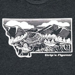 Montana Drift T shirt Fly Fishing T shirt - Stripn Flywear