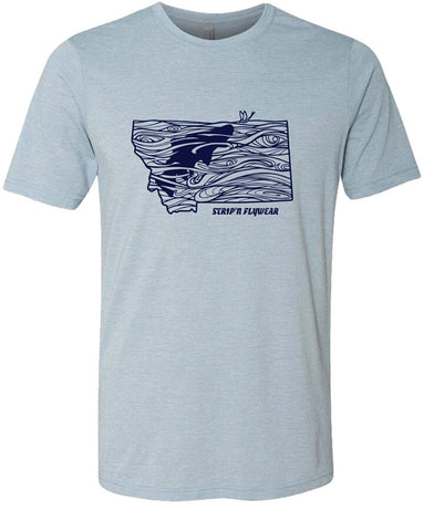 Montana Rise T shirt Fly Fishing T shirt - Stripn Flywear