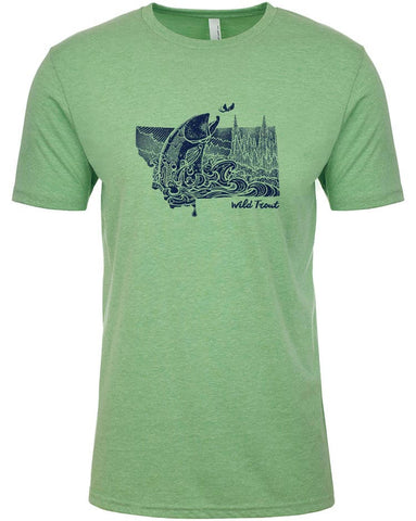 Montana Splash T shirt Fly Fishing T shirt - Stripn Flywear
