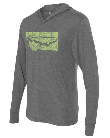 Montana Topo Trout Lightweight Hoody Lightweight Fly Fishing Hoody - Stripn Flywear