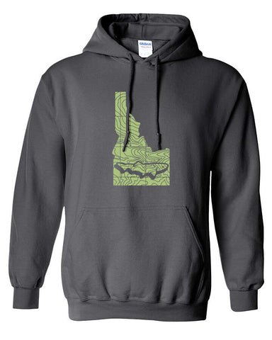 Idaho Topo Trout Hoody Fly Fishing Hoody - Stripn Flywear