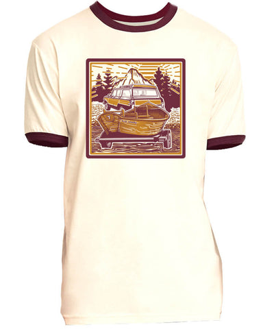Morning Wood T shirt Fly Fishing T shirt - Stripn Flywear