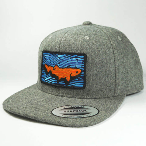 Melton Wool Snapback Fly Fishing Hat - Stripn Flywear