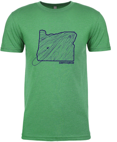 Oregon Rise T shirt Fly Fishing T shirt - Stripn Flywear