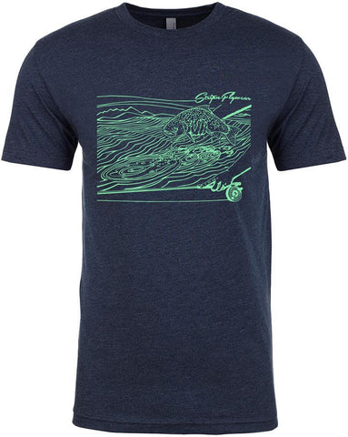 Ripples T shirt Fly Fishing T shirt - Stripn Flywear