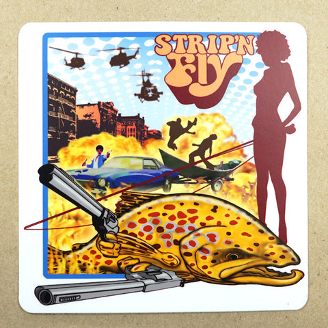 "Superfly Sticker 5"" x 5"" Fly Fishing Sticker - Stripn Flywear"