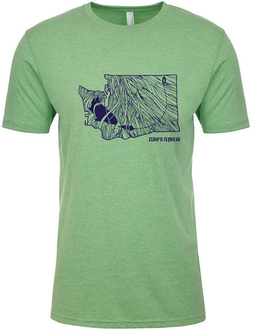 Washington Rise T shirt Fly Fishing T shirt - Stripn Flywear