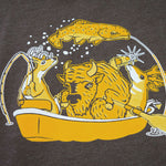 Bison Boat T shirt Fly Fishing T shirt - Stripn Flywear