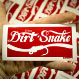 "Dirtsnake Sticker 2.5"" x 5"" Fly Fishing Sticker - Stripn Flywear"