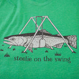 Steelie Swing T shirt Fly Fishing T shirt - Stripn Flywear