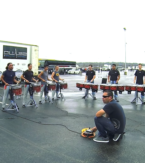 In The Lot With Pulse Percussion 2015