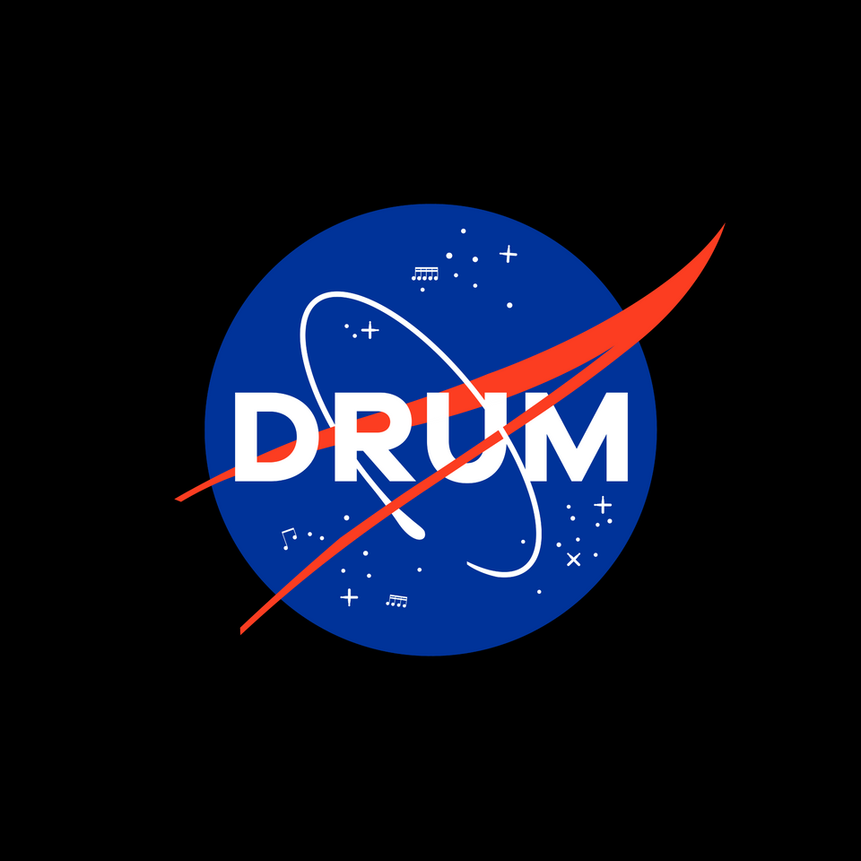 DRUM Space Program Tee - Blue