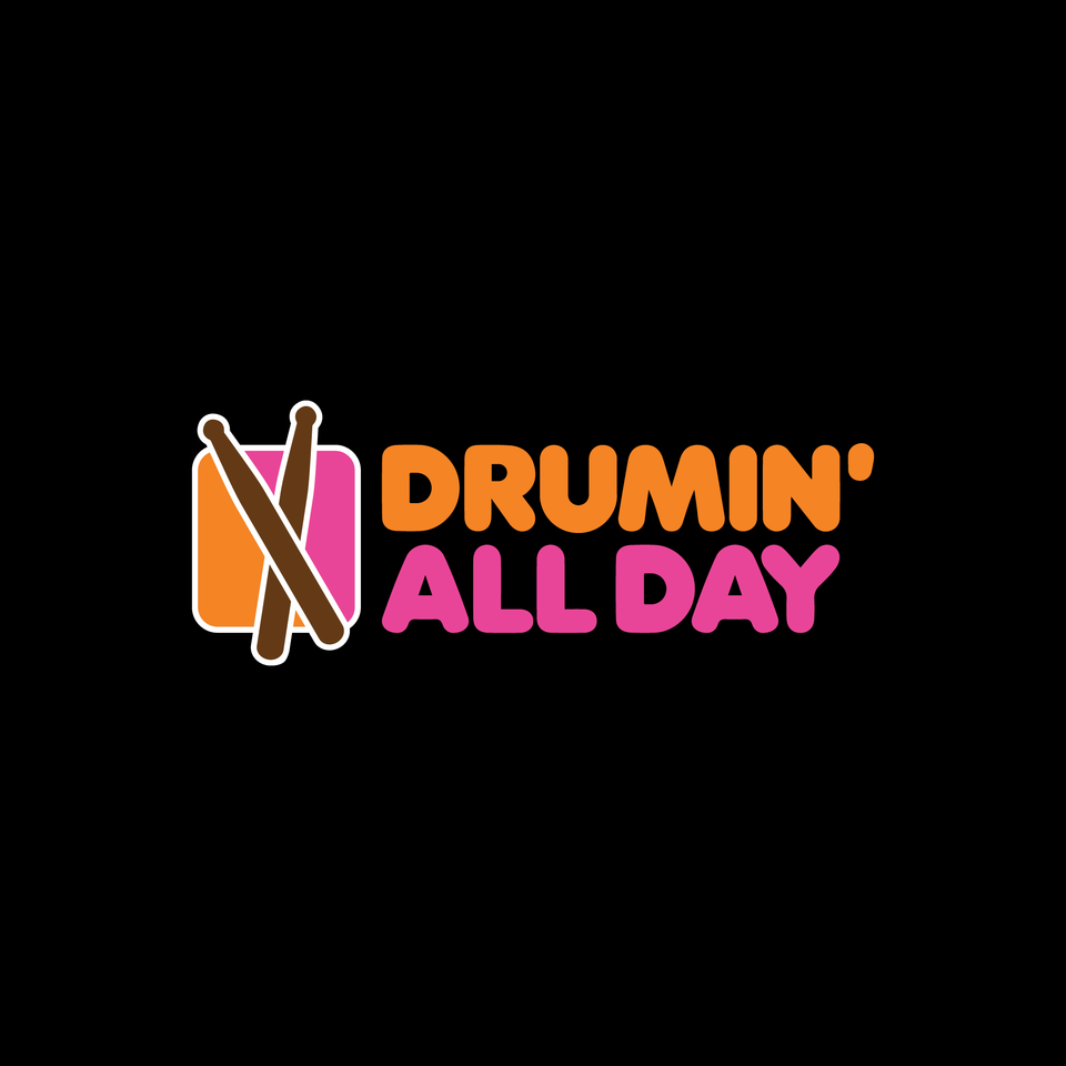 Drumin' All Day Tee - Black