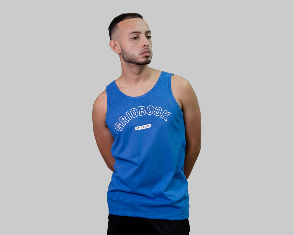 Gridbook Athletics Tank - Blue