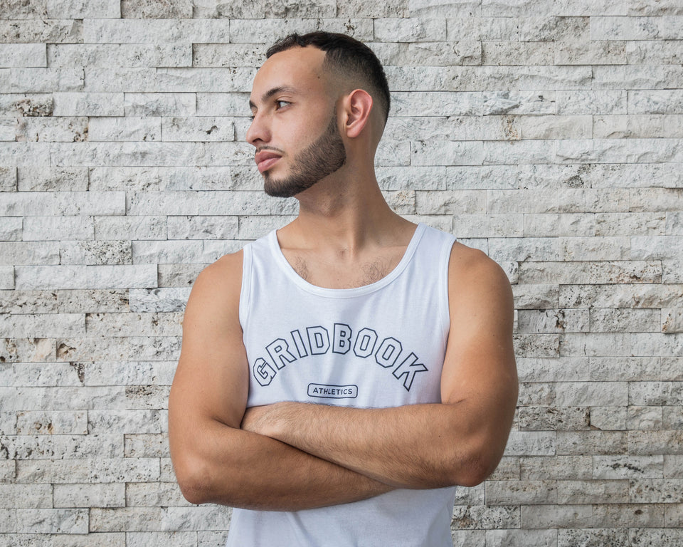 Gridbook Athletics Tank - White