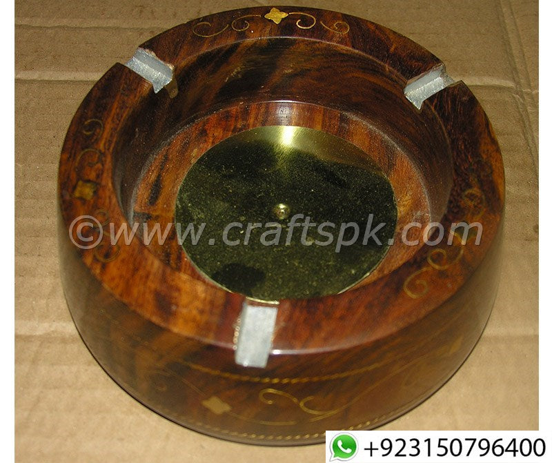 Brass Inlay Work Stinky Cigar Ashtray