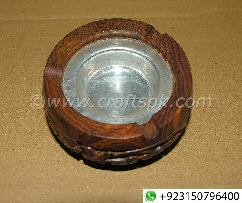 Full Carved Wooden Cigar Ashtray
