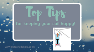 Our 5 Top Tips for Keeping your Shade Sail Happy