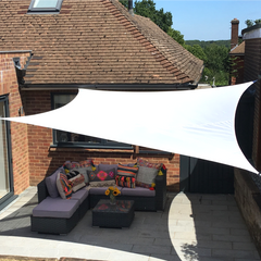 Shade Sail White Waterproof Sun Sail Garden