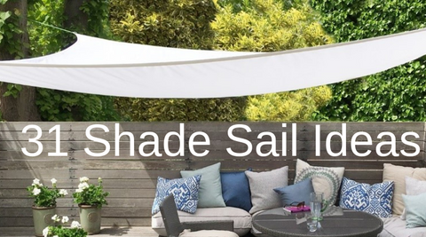 Shade Sail Garden Patio Shade Ideas