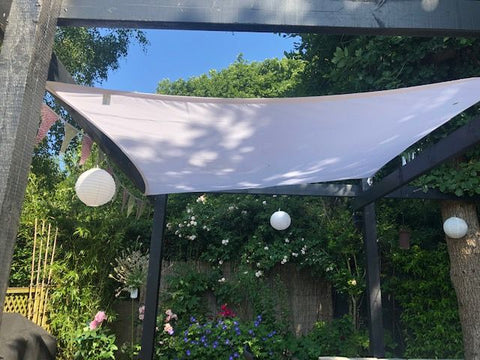 Bunting on a shade sails