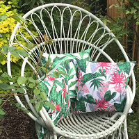 tropical cushions garden