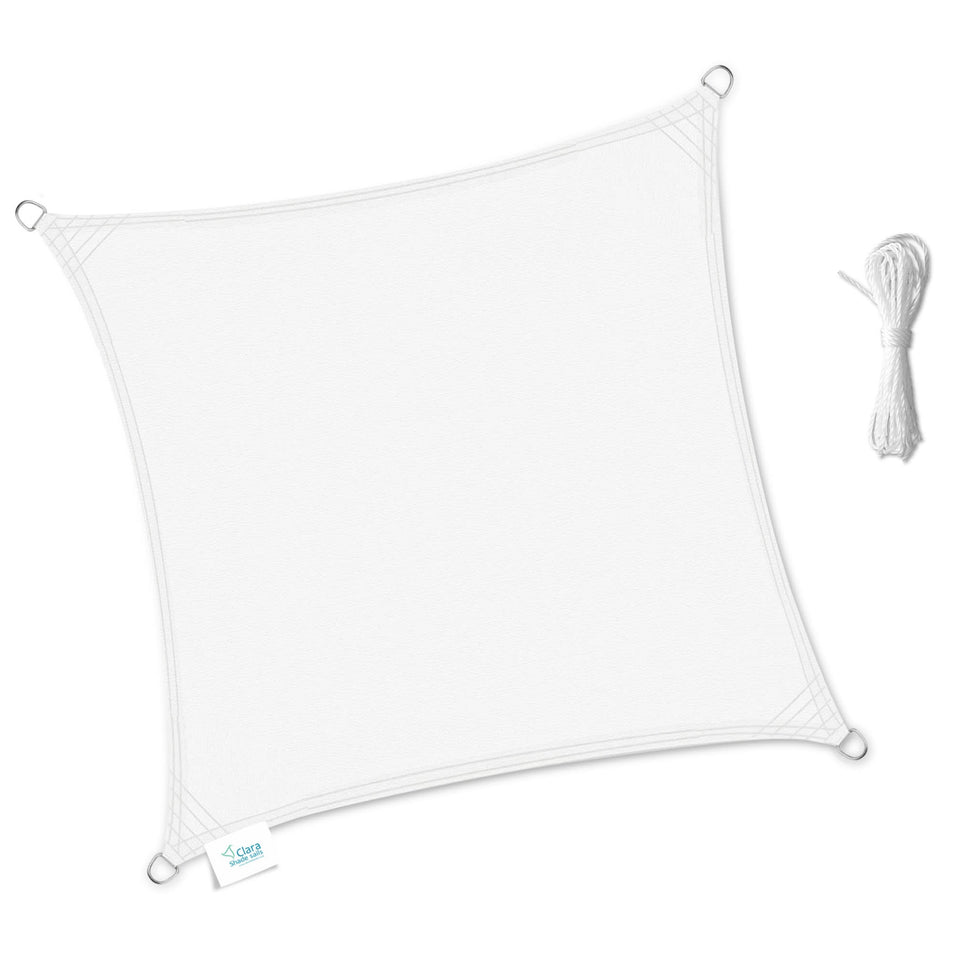 Square Shade Sails White Waterproof UV Protective 2m, 3.6m 5m