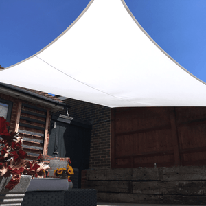 NEW SIZE FOR 2021 - Clara Rectangle 4m x 6m Sun Shade Sail White Waterproof Patio Garden Canopy Awning - Clara Shade Sails