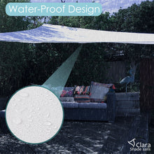 NEW SIZE FOR 2021 - Clara Square 3m Sun Shade Sail White Waterproof UV Patio Garden Canopy Awning - Clara Shade Sails
