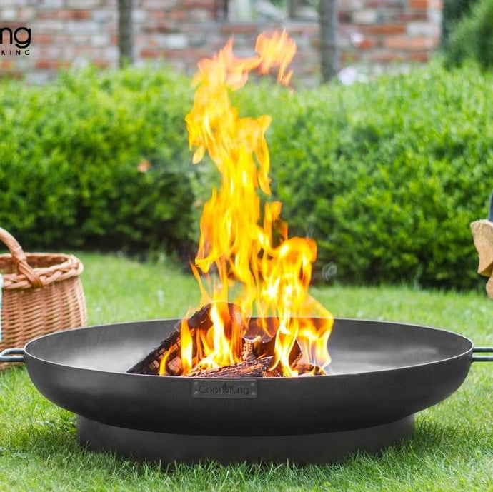 Dubai Fire Bowl Pit for Garden and Outdoor Patio Entertaining Portable Metal Round 80cms Cook King - Clara Shade Sails
