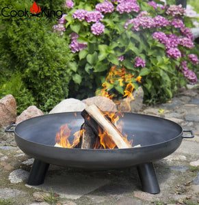 Bali Fire Bowl Pit for Garden and Outdoor Patio Entertaining Portable Metal Round 80cm Cook King - Clara Shade Sails