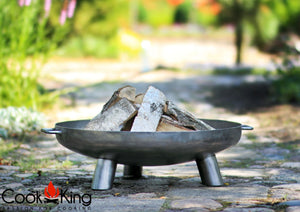 Bali Fire Bowl Pit 80cm for Garden and Outdoor Patio Entertaining Portable Metal Round 80cm Cook King - Clara Shade Sails