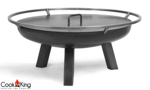 Porto Fire Bowl Pit for Garden and Outdoor Patio Entertaining Portable Metal Round 80cm Cook King - Clara Shade Sails