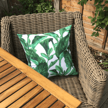 Jungle Leaf Waterproof Garden Cushion Cover Scatter Pillow Cover Tropical Jungle Rainforest - Clara Shade Sails