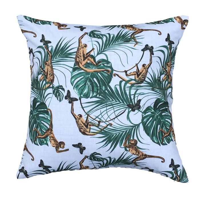 Monkey Waterproof Garden Cushion Cover Scatter Pillow Cover Tropical Jungle Rainforest - Clara Shade Sails
