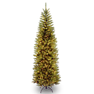 Kingswood Fir Slim Artificial Christmas tree white LED lights- 4 sizes: 4ft 5ft 6ft 7ft - Clara Shade Sails