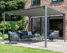 Modern Grey Slatted Pergola Canopy Garden Gazebo Pavilion Square 3m x 3m, Rectangle  3m x 3.6m - Clara Shade Sails