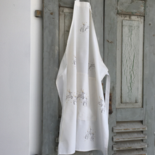 Load image into Gallery viewer, Christmas Reindeer Aprons White Silver Gold 100% Cotton Made in UK - REDUCED TO CLEAR - Clara Shade Sails