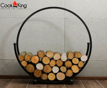 Spiral Wood Store for Fire Pits Bowls Baskets Fireside Wood Storage Indoor Outdoor Fireplace Garden Home Patio Entertaining Metal Cook King - Clara Shade Sails