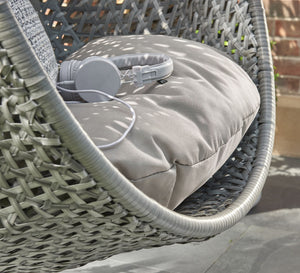 Single Cocoon Egg Chair Swing Heavy Duty Frame with Padded Cushion - Grey - Clara Shade Sails