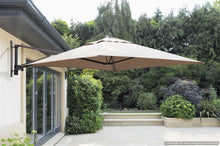 Wall Mounted Cantilever Parasol Umbrella for Garden Patio Terrace 2m Square Taupe Grey - INCLUDES MATCHING COVER - Clara Shade Sails