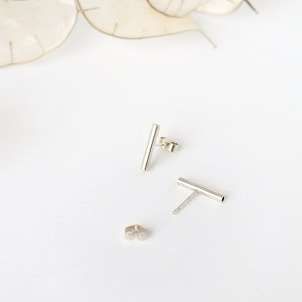 Silver Tube Studs