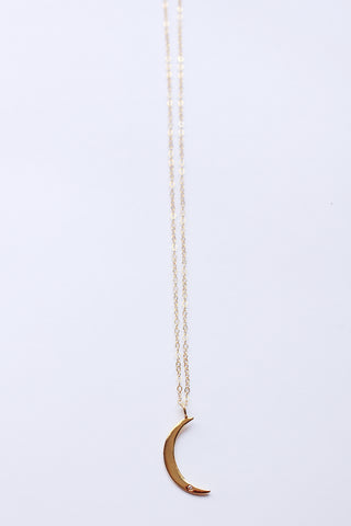 Balsamic Moon Gold Necklace