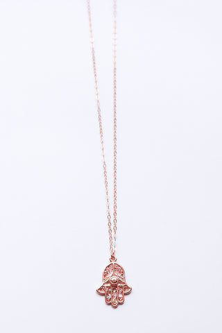 Hamsa Rose Gold Necklace