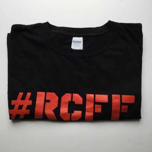 #RCFF Black T-Shirt / Red Logo *FREE UK POSTAGE*