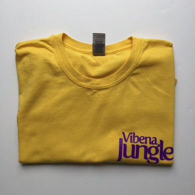 Vibena Jungle Yellow T-Shirt / Purple Logo